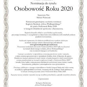Nominacja Michal Piontczak